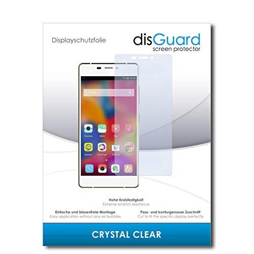 disGuard® Bildschirmschutzfolie [Crystal Clear] kompatibel mit Gionee Elife S7 [2 Stück] Kristallklar, Transparent, Unsichtbar, Extrem Kratzfest, Anti-Fingerabdruck - Panzerglas Folie, Schutzfolie