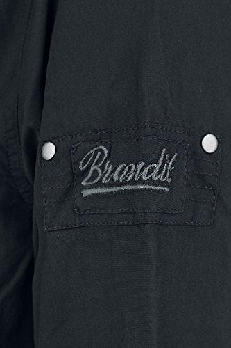 Brandit Uomo SlimFit Camicia Bianco Nero