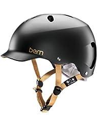 Bern Lenox - Casco per bici, guscio in EPS, da donna, nero (Satin Noir), M/L