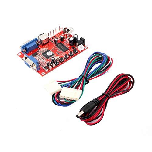 Red VGA zu CGA/CVBS/S-Video High Definition-Konverter Arcade-Spiel Video Converter Board für CRT-LCD-PDP-Monitor 12 S-video