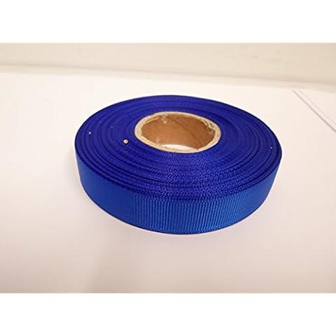 1 rollo de 16mm grosgrain cinta x 20 metros, real / cobalto, azul, de doble cara, favores de la boda oscuros, Pascua, Navidad, la artesanía, acanalado 16 mm