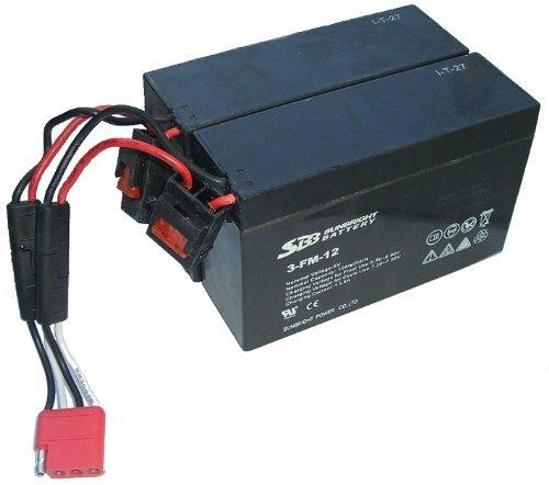 AKKU-Set 2x 6V-12Ah - 2 Stück 6V-12Ah Batterie für crooza 4x4 ALLRAD JEEP oder 4x4 ALLRAD QUAD inkl. Adapterkabel