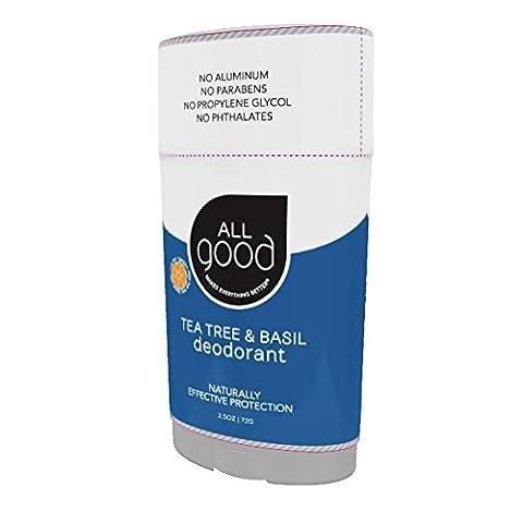 All Good, Deodorant, Tea Tree & Basil, 2.5 oz (72 g) - Elemental (Deodorante Buoni)