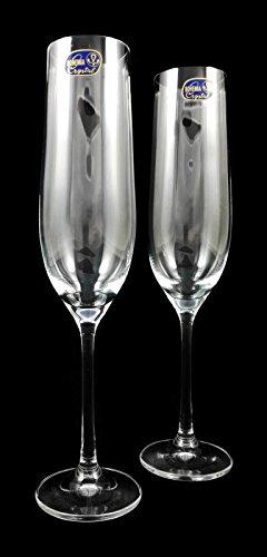 Verdadera Cristal de copas de champán, 2unidades, 190ml/Copa de c