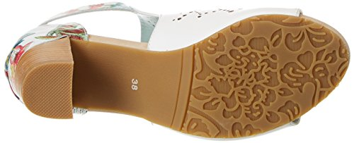 Alla Sandali Bernie Donna Laura Blanc 30 Cinturino Vita Bianco Caviglia con YHpHZwBtq