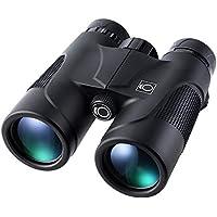 10 x 42 HD Prismáticos- K&F Concept Binoculares Impermeable Antideslizante con BaK-4 Prisma para Adultos y Niños