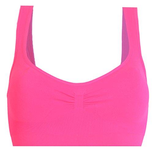 Libella Comfort BH - Seamless - Soft-Bustier 3751 - Sporttop Nahtlos Form ohne Bügel Bra Wohlfühl-BH Microfaser pink M/L