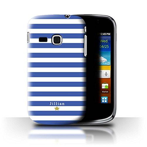 Personalizzato Strisce/Banda Personalizzare Custodia/Cover per Samsung Galaxy Mini 2/S6500 / Stella della Banda Blu Design/Iniziale/Nome/Testo Caso/Cassa