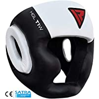 RDX Headguard Cow Hide Leather Boxing MMA Headgear UFC Head Guard Sparring Helmet Protector Fighting (CE Certified Approved)
