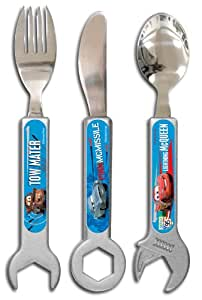 Spearmark 3-Piece Disney Cars 2 Tool Shaped Cutlery Set