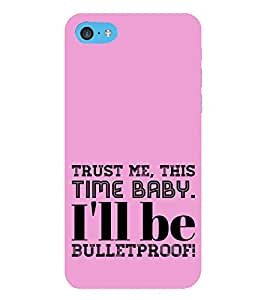 HiFi Designer Phone Back Case Cover Apple iPhone 6s Plus :: Apple iPhone 6s+ ( Pink Pattern Trust Me Baby Quotes )