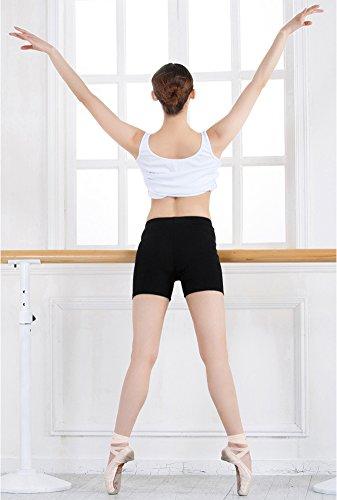 Legging Court Femme Pantalon Sport Yoga Course Jogging Danse Noir