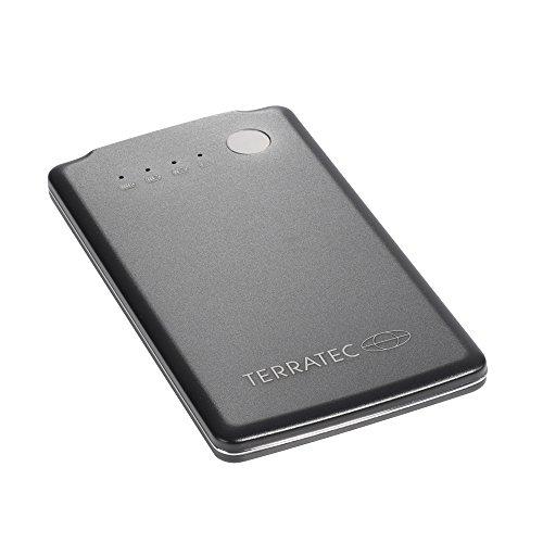 TERRATEC PB 3500slim 3.500mAh Powerbank/Externer Akku/Ladegerät, 1 x Out (USB), LED Kapazitätsanzeige, Aluminium Oberfläche, für iphone, Samsung Galaxy und weitere Smartphones, (Schwarz)
