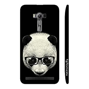 Enthopia Designer Hardshell Case Geeky Panda Back Cover for Asus Zenfone 2 Laser ZE550KL