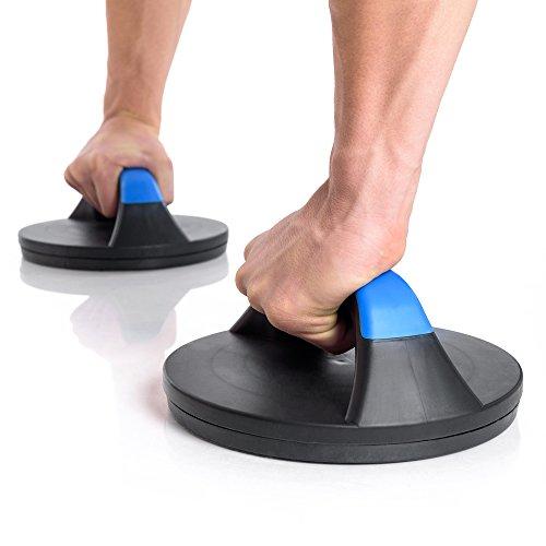 Bodyworks Liegestützgriffe (2er) drehbar, Push up   Liegestütze   Crossfit   Bodybuilding   Athletiktraining   Liegestützhilfe für tägliches Workout, draußen oder drinnen