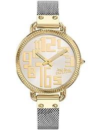 Reloj mujer JEAN PAUL GAULTIER–Index–acero PVD dorado–Pulsera PVD bicolor–36mm–8504310