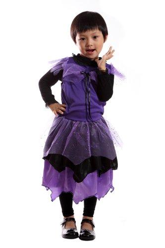 De04 Tolles Hexenkleid, Feenkleid für Halloween und sonstige Hexen und Feen. Größe (Friendly Kostüme Kinder Eco Für)