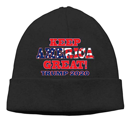 UUOnly Trump 2020 Keep America Great 4 Beanie-Mütze Ski Caps Slouchy Soft für Männer