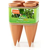 Bio Green cono in ceramica per l'irrigazione Hydro Wine, terracotta