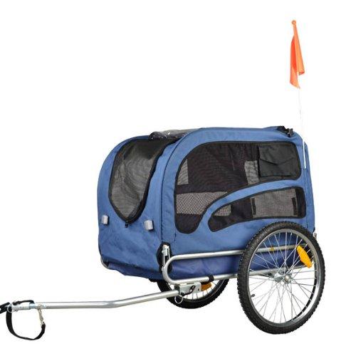 DOGGYHUT Hundeanhänger Hunde Fahrradanhänger Hundetransporter-MEDIUM BLAU 60301-02 -