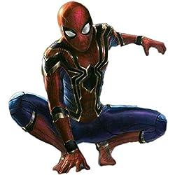nihiug Vengeance Spider-Man Cosplay Costume Retour Collants Iron Spider-Man Impression 3D,Red-M(161-170cm)