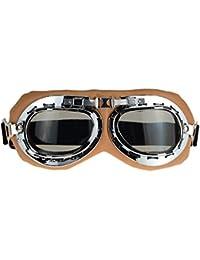 Occhiali da sole sport outdoor retro occhiali da vista moto cross-country viaggio occhiali anti-ultravioletti per l'arrampicata e lo sci , silver , grey