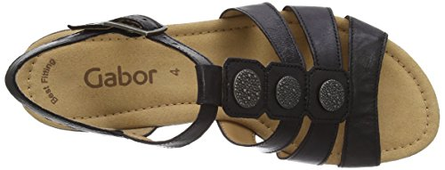 Gabor - Sandali, Donna Black Leather