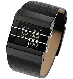 diesel dz7070 montre homme quartz digitale large bracelet en cuir noir diesel amazon. Black Bedroom Furniture Sets. Home Design Ideas
