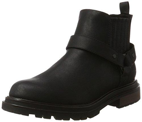 Rocket Dog LOKI, Damen Biker Boots, Schwarz (Black), 38 EU (5 UK) (Dog Rocket Boots-schwarz Ankle)