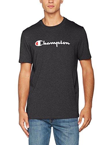Champion Herren T-Shirt Crewneck T-shirt - Institutionals, Grau (Znbk/Nbk), X-Large (Champion Pullover)