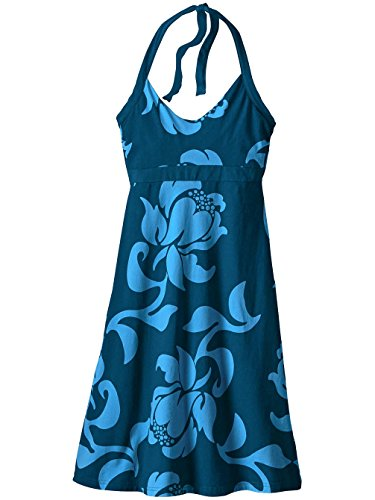 Patagonia Damen Neckholder Kleid Iliana Halter exotic floral: big sur bl