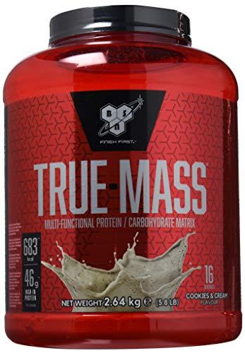 bsn true mass, proteine in polvere per aumento massa muscolare, gusto cookies and cream