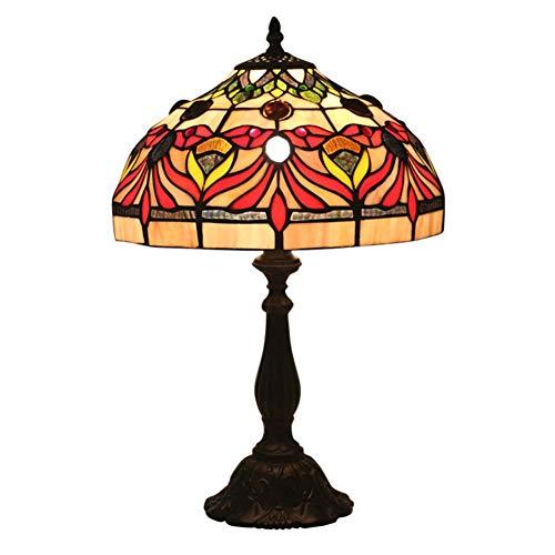 Tiffany Style Tischlampe, Phoenix Flower Night Light, für Pastoral Restaurant Bar Arbeitszimmer Dekoration Schreibtischlampe 12 Zoll E27 Phoenix Flower