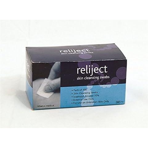 Reliance Medical Reliject toallitas limpiadoras para prevención de la infección