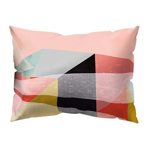 Clemunn Vintage Dekorative Kissenbezüge Unregelmäßigen Geometrischen Muster Kissenbezug Kissen Fällen Wurfkissen Einzigartiges Design Für Sofa Couch Schlafzimmer 30cm x 50cm -
