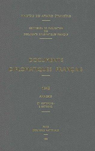 Documents Diplomatiques Francais, 1945: 11 Septembre - 2 Octobre