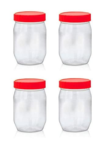 Sunpet Food Storage Canisters, Plastic, Red, 300 ml, Small, Pack