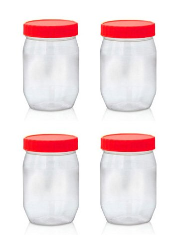 sunpet-food-storage-canisters-plastic-red-300-ml-small-pack-of-4