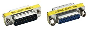 Intos Adaptateur Mini Gender Changer DB15/Mâle–DB15/Femelle