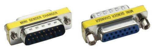 Db15-mini Gender Changer (Intos Mini Gender-Changer Adapter DB15 / Stecker - DB15 / Buchse)