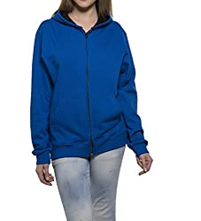 Clifton Womens Sweat Shirt With Hood-Royal Blue-M