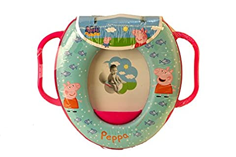 Peppa Pig Kids Soft Padded Potty Toilet Training Seat With Handles WC Child Toddler