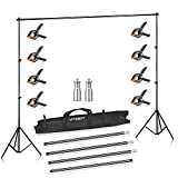 UTEBIT Photography Backdrop Stand 2Mx2.8M Heavy Duty with Background Clamps / Clips 8
