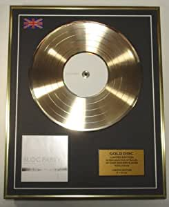 Bloc Party Gold Disc Record Limited Edition/Silent Alarm