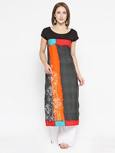 Laabha Women'S Multi Printed Straight Kurti (Medium)