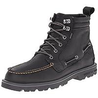 Sperry Erkek A/O Lug Boot Yağmur Botu, Black, 44
