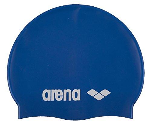 arena Kinder Unisex Wettkampf Badekappe Classic Silikon Junior (Verstärkter Rand, Weniger Verrutschen), Skyblue-White (77), One Size (Silikon-badekappen Kinder)