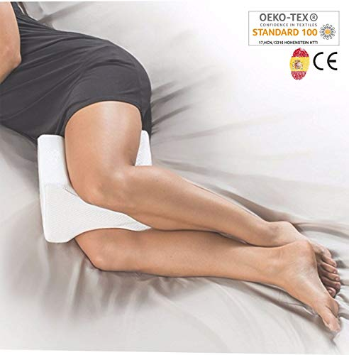 AIMO Spain Almohada cojín piernas ortopédico de Rodilla KP-001, Facilita el Dormir de Lado, Alivia...