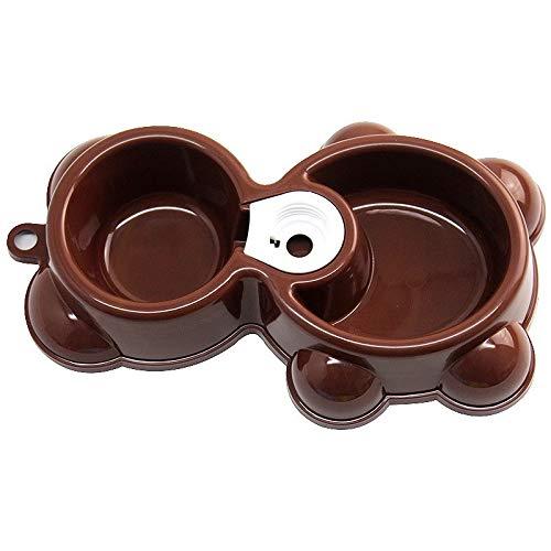 CAOQAO Domestique Bol coloré Double Gamelles Chien Chat, avec Base en Caoutchouc pour Chiens de Petite et Moyenne Taille, pour Animal Domestique Chat Lapin Bol Mangeoire Nourriture Eau(,café)
