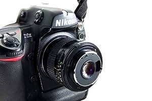 Pixtic - Bague d'inversion/inversée macro 77mm pour boitier Nikon